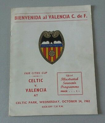 1962 Celtic v Valencia Fairs Cup