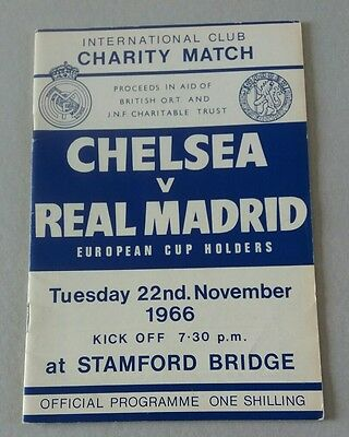 1966 Chelsea v Real Madrid Charity Match