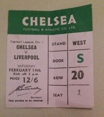 Chelsea v Liverpool Ticket 14th February