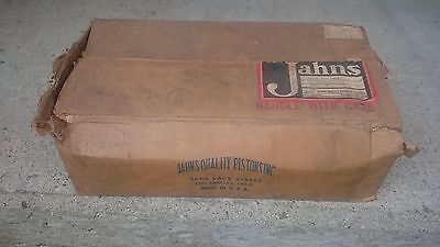 Vintage Jahns racing piston set hot rod Lincoln Ford 13:1 NOS 352 430 V8 in box