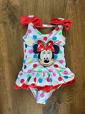 Girls Disney Store Minnie Mouse Swimming Costume! 18-24m