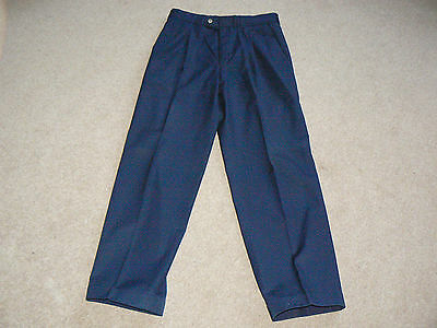 Vintage St Michael Marks & Spencer Mens Cotton Mix Turn Up Trousers W32 L31