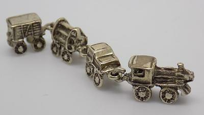 Vintage Solid Silver Train Miniature - Dollhouse - Stamped - Made in Italy