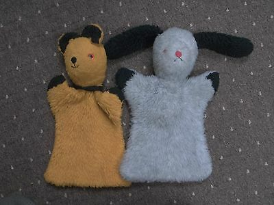 Vintage Sooty & Sweep Hand Puppets
