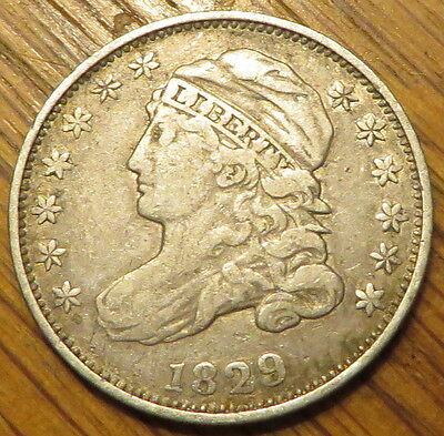1829 10C Capped Bust Dime - Great coin, really nice detail - Fine - (9080)