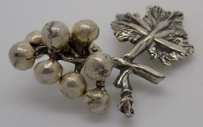 Vintage Solid Silver Grape Miniature - Stamped - Made in Italy