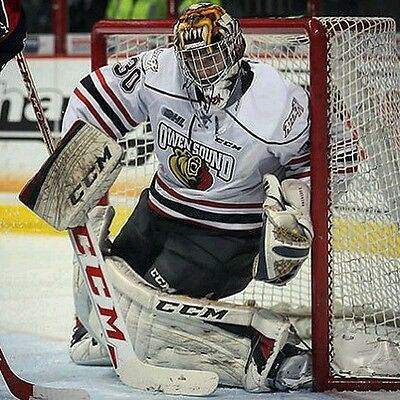 Owen Sound Attack game worn goalie jersey OHL CHL Daniel Dekoning