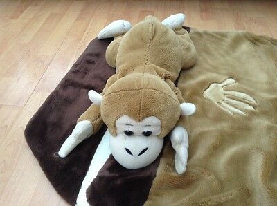 Soft Toy Monkey With A Sleeping Bag