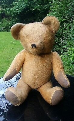 """VINTAGE  Mohair 1930,s MERRYTHOUGHT LARGE 28"""" TEDDY BEAR.GROWL. MOVING JOINTS"""