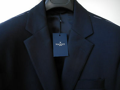 New HACKETT LONDON navy English Wool Plain CHELSEA jacket 40R/50R RRP 375 pounds