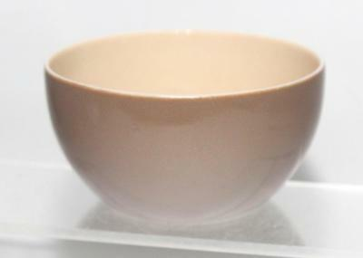 Branksome Pottery Poole Graceline Shape Sugar Bowl in Pixie Brown and Sahara