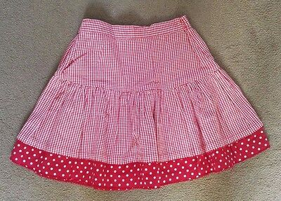 Girls Lovely Red Checked Skirt Age 6-7 Years