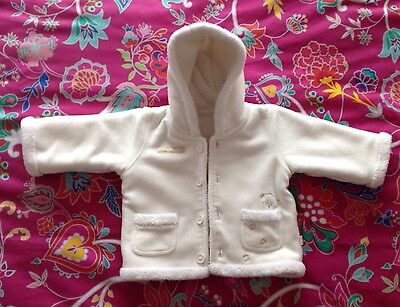 M&S Baby GIRLS WHITE JACKET with Hood ~ Age 3-6 Months