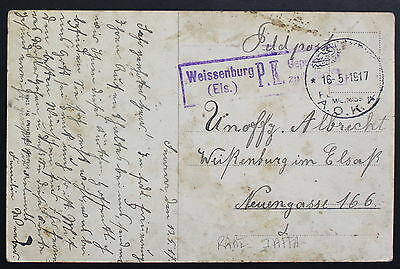 Palestine, Germany, AOK4, Military Post, WWI, 1917, Picture Postcard #a989