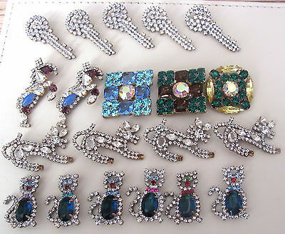 Nice GLASS Beautiful Rhinestones Buttons on - Amazing HUGE LOT C-100