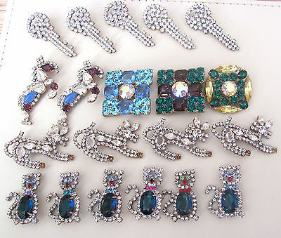Nice GLASS Beautiful Rhinestones Buttons on - Amazing HUGE LOT C-103