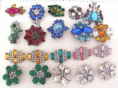 Nice GLASS Beautiful Rhinestones Buttons on - Amazing HUGE LOT C-108