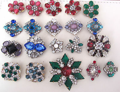Nice GLASS Beautiful Rhinestones Buttons on - Amazing HUGE LOT C-109