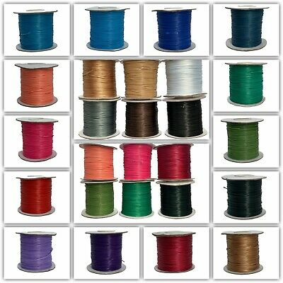 10 Meters of Superior Korean Wax Cord - 1mm Thick, Different Colours Available