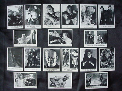 1973 Topps YOU'll DIE LAUGHING 18 Card TEST SET UNIVERSAL's Monsters The MUMMY