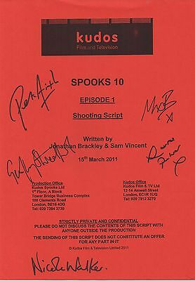 Spooks Cast Signed Script Cover for Episode 1 of Season 10 - Peter Firth