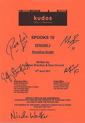 Spooks Cast Signed Script Cover - Episode 3 of Season 10 - Geoffrey Streatfeild