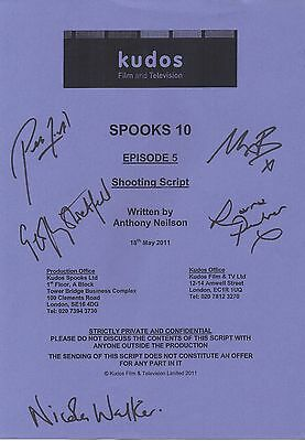 Spooks Cast Signed Script Cover for Episode 5 of Season 10