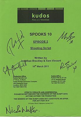 Spooks Cast Signed Script Cover for Episode 2 of Season 10 - Nicola Walker