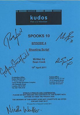 Spooks Cast Signed Script Cover for Episode 4 of Season 10 - Peter Firth
