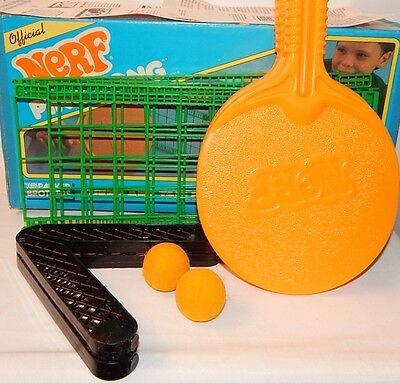 Vintage 1987 Parker Brothers Official Nerf Ping Pong Set In Original Box