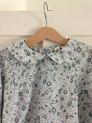 Girls Floral Peter Pan Collar Traditional Blouse 5 6 7  Little Cotton Clothes
