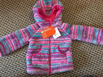 Baby Girl Fluffy Mountain Warehouse Hoodie 12-18 Months **brand New With Tags**