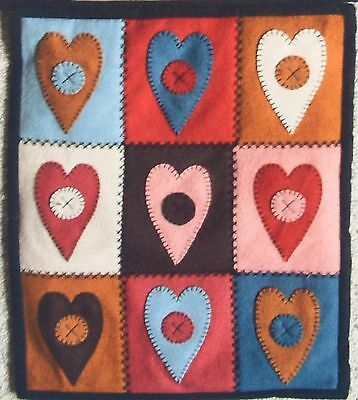 Kowhai View Patterns 'cosy Heart Cushion' Patchwork Cushion Or Wall Hanging Kit