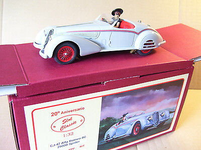 SLOT CLASSIC CJ-47 Alfa Romeo 8C 2900B Spider factory built RTR SOLD OUT!