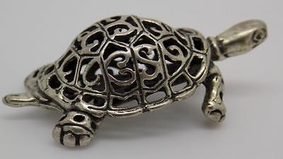 Vintage Solid Silver Turtle Miniature - Stamped - Made in Italy
