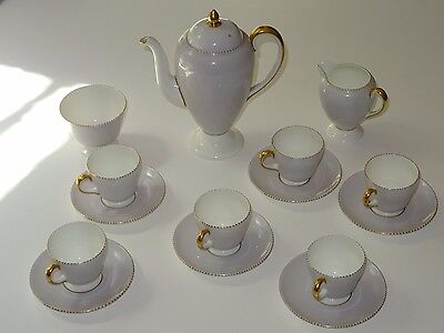 Wedgwood Fine Bone China Coffee Set for Six in the 'Summer' Pattern circa 1954