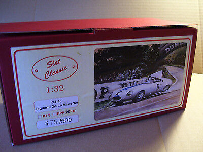 "SLOT CLASSIC CJ-46 Jaguar E 2A ""Le Mans 1960"" 1:32 unbuilt KIT SOLD OUT!"