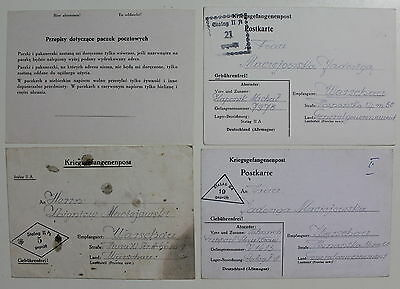 Poland WWII 1940-1945 Internment Camps Lot of 4 Covers  #a1002