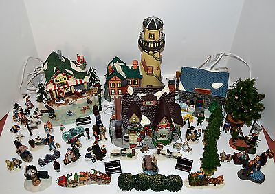 Christmas Village  & Collectibles- Buildings & Multiple move-around figurines