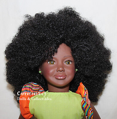 African Black doll Natural Hair Afro 18 inch NEW, The A-Girls from Botswana