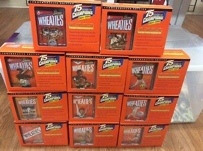 Complete Set of 11 Wheaties 75 Years of Champions Mini Box Collectibles Gold Sig