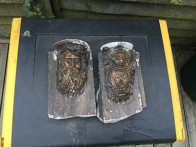 Vintage Architectural Wall Sconces/Brackets Reclaimed Stone