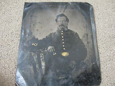 Original Civil War Artilleryman Tintype With Kepi