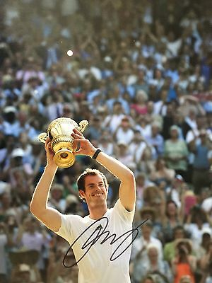 Andy Murray Original Hand Signed Photo 12x8 With COA