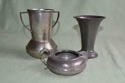 3 Pieces Of Pewter ( 2 Cups And 1 Jug) (0739-Jh)