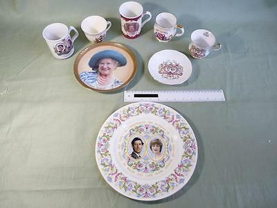 5 Royal Commemorative Mugs + 2 Plates (0039-MM)