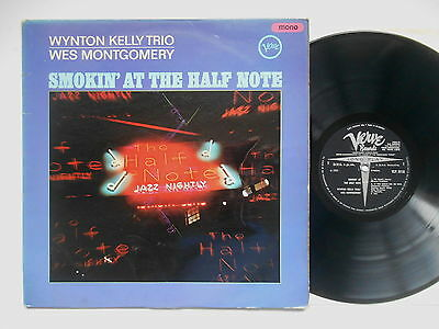 Wynton Kelly Trio Wes Montgomery Smokin' At The Half Note Lp Uk Mono Verve Ex-