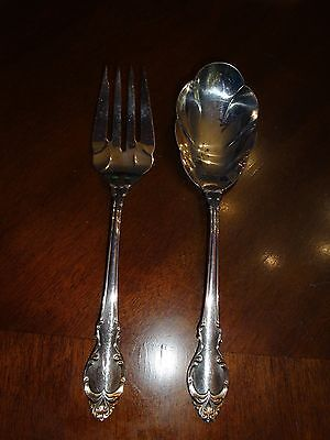 Holmes and Edwards Danish Princess 2 Serving Pieces Flatware Silverplate