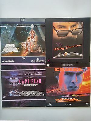 4 Laser Disc Lot Star Wars A New Hope Risky Business Days of Thunder Cape Fear