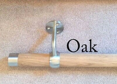 Solid Wooden Stair Handrails available in OAK & BEECH All fixing supplied